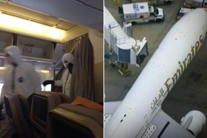 Plane quarantined at airport over Ebola scare after passengers vomit
